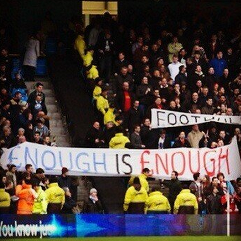 man city liverpool protest ticket prices Manchester City and Liverpool Fans Join Together to Protest High Ticket Prices: The Nightly EPL