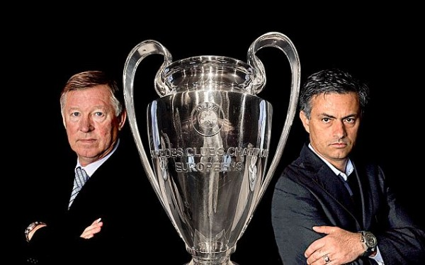 mourinho ferguson 600x374 Real Madrid vs Manchester United, UEFA Champions League Round of 16 1st Leg: Open Thread