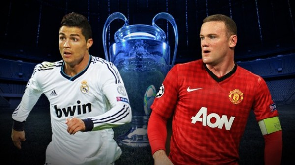 ronaldo rooney 600x337 Real Madrid vs Manchester United: Must See Fan Made Champions League Promo [VIDEO]
