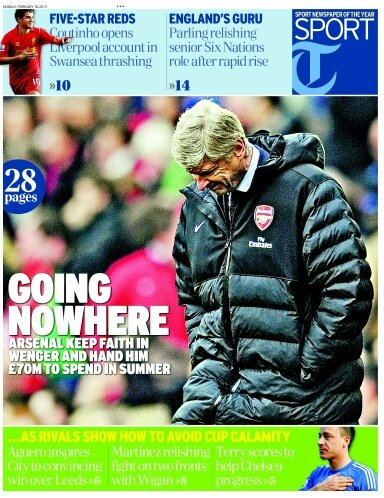 wenger telegraph Arsenal Back Arsene Wenger With £70m to Spend in Summer: The Nightly EPL
