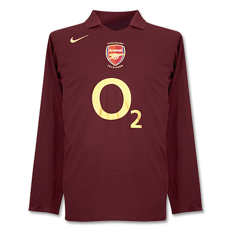 arsenal home shirt 05 06 Wigan 2   3 Arsenal