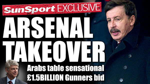 arsenal takeover Arsenal Target of £1.5bn Takeover Bid from Middle East Consortium: The Nightly EPL