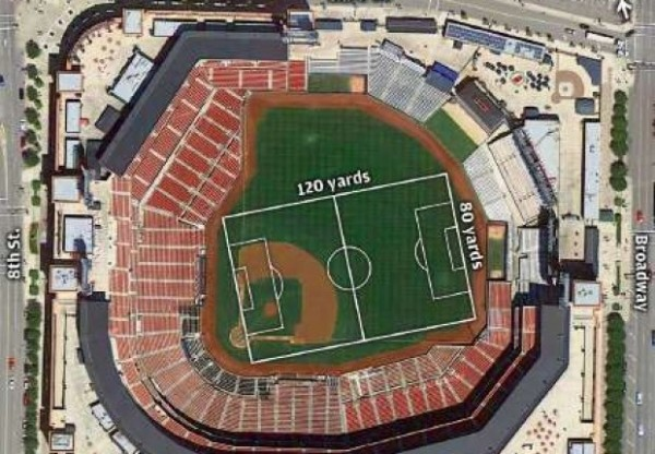 busch stadium soccer 600x416 Manchester City to Play Chelsea in St. Louis 4 Days After Premier League Season Ends