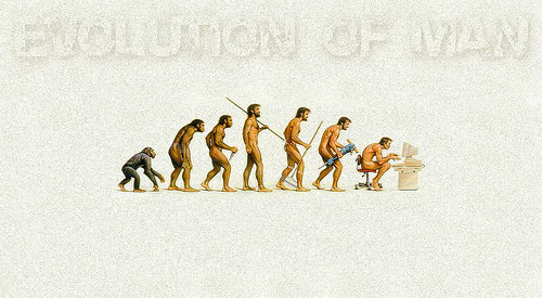 evolution of man The Evolution Of British Soccer Fans From Neanderthals to Warriors of the Light