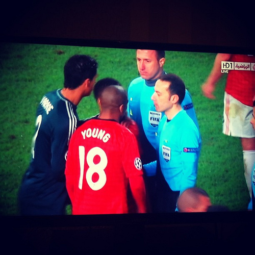 man united real madrid1 Rafael Should Have Been Sent Off After Nani Red Card Says Graham Poll: The Nightly EPL
