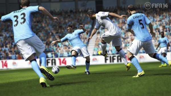 FIFA14 manchester city 600x337 FIFA 14 New Features Revealed; More Of a Focus On The Midfield [PHOTOS & VIDEO]