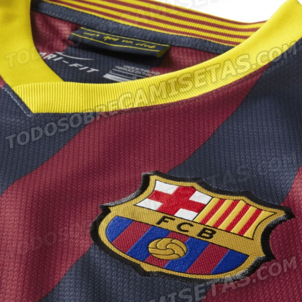 barcelona home shirt crest 600x600 Win Keeps Barcelona On Course For Century