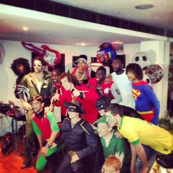 chelsea fancy dress Chelsea Players Adorn Costumes for Fancy Dress Party, But Theres No Spanish Waiter [PHOTOS]