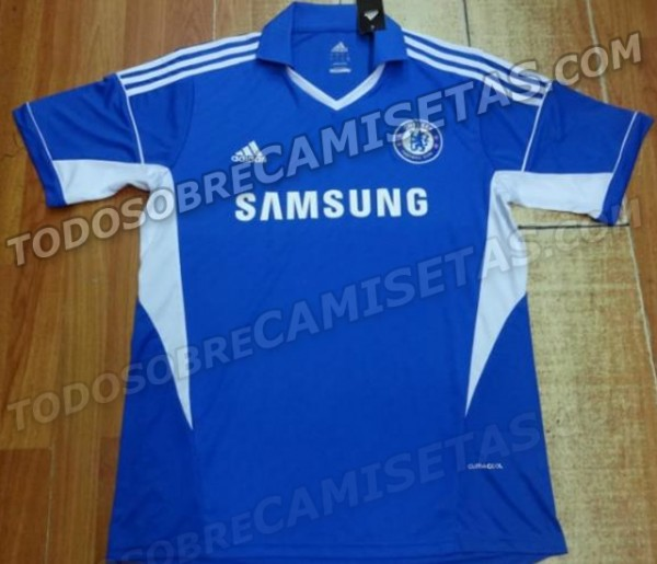 chelsea home shirt 2013 14 600x515 Leaked Photo of Chelseas New Home Shirt for 2013 14 Season [PHOTO]