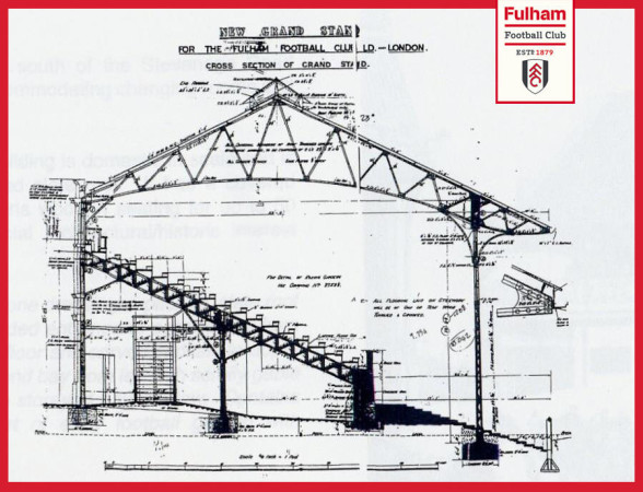 craven cottage grand stand 1904 sm Fulhams 1904 Plans for Stevenage Road Stand [PHOTO] #ThrowbackThursday