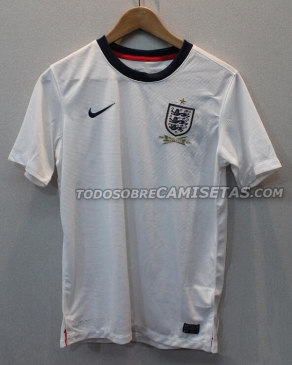 england home shirt 600x750 New Leaked Photo of Englands 2013 Home Shirt Is Clearest Yet [PHOTO]