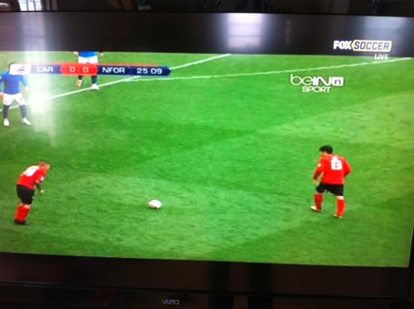 fox soccer forest cardiff 600x448 FOX Soccer Interrupts Arsenal Norwich Match With beIN Sport Broadcast [PHOTO]