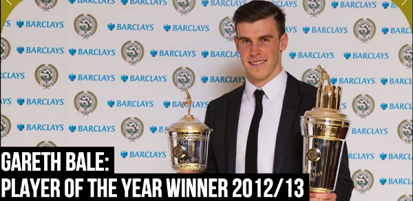 gareth bale pfa Gareth Bale Becomes 3rd Man To Be Crowned PFA POTY & Young POTY In Same Season: The Nightly EPL
