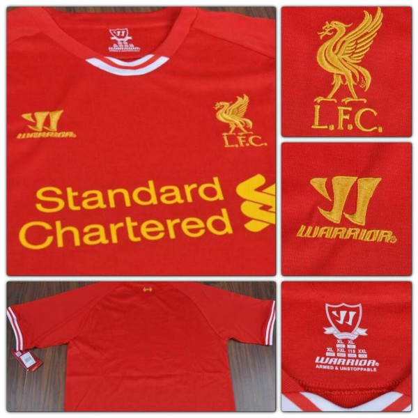liverpool kit closeups 600x600 Close Ups of Liverpools New Home Shirt for 2013 14 Season [PHOTOS]
