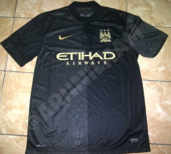 manchester city shirt 600x541 Manchester City Away Shirt for 2013 14 Season: Leaked [PHOTO]
