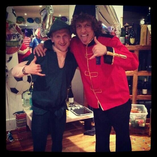 marko marin david luiz fancy dress Chelsea Players Adorn Costumes for Fancy Dress Party, But Theres No Spanish Waiter [PHOTOS]