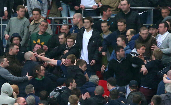 millwall fight Millwall Hooligans Clash With Fans and Police at Wembley FA Cup Semi Final [PHOTOS & VIDEO]