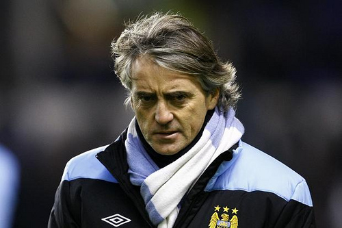 roberto mancini Manchester City to Review Mancinis Position at End of Season; Mancini Says Too Many Teams Roll Over for United: The Nightly EPL