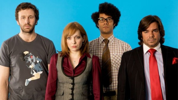 the it crowd 600x337 Are We Not Men? The IT Crowd Nerds Pretend to be Football Supporters [VIDEO]