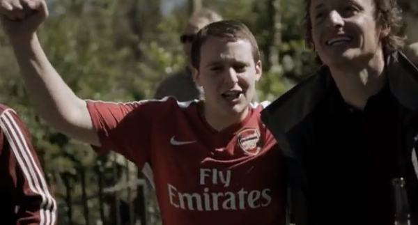 arsenal fan 600x323 New NBC Sports Video Promotes EPL Coverage [VIDEO]