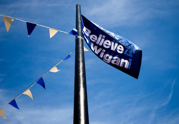 believe in wigan 600x415 Wigan Athletic vs Swansea City & Manchester City vs West Brom: Open Thread