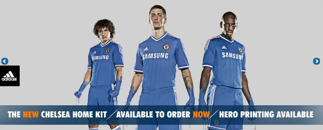 chelsea home kit 640 Be One Of The First To Get Chelseas Home Shirt for the 2013 14 Season