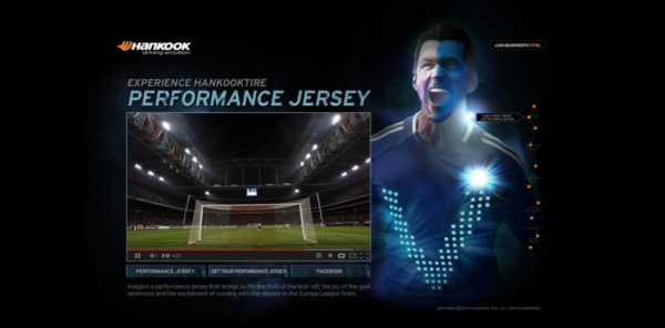 hankook tire 1 600x296 Sponsored Video: Interactive Soccer Jerseys That Flash, Vibrate and Inflate
