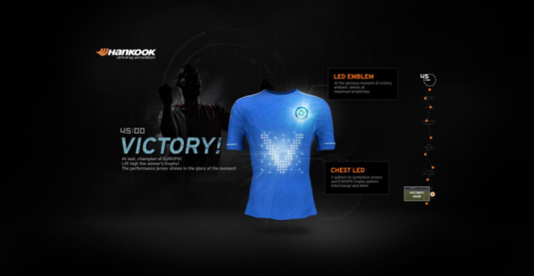 hankook tire 2 600x310 Sponsored Video: Interactive Soccer Jerseys That Flash, Vibrate and Inflate