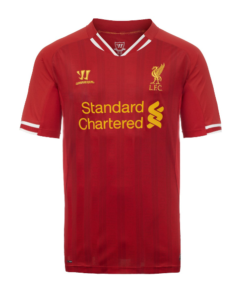 liverpool home shirt front Liverpool Unveil Home Shirt for 2013 14 Season: Official [PHOTOS]