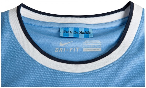 man city collar 600x362 Manchester City Officially Unveil Their Home Kit for the 2013 14 Season [PHOTOS]
