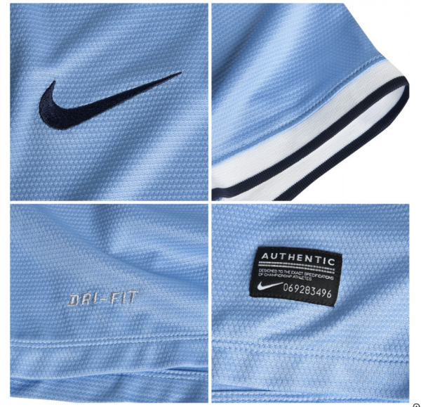 man city home shirt closeup1 600x579 Manchester City Officially Unveil Their Home Kit for the 2013 14 Season [PHOTOS]