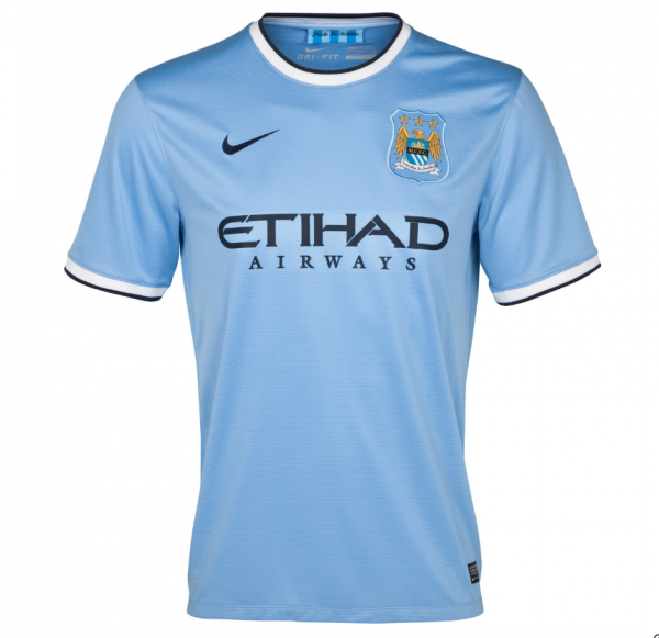 man city home shirt front 600x581 Manchester City Officially Unveil Their Home Kit for the 2013 14 Season [PHOTOS]
