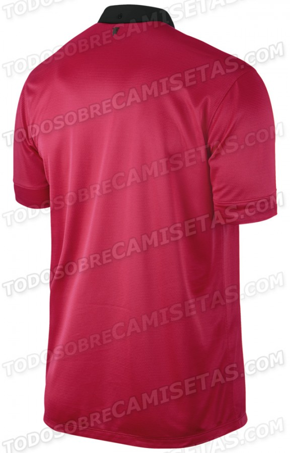 manchester united home shirt back 576x900 Manchester United Home Shirt for 2013 14 Season: New Leaked [PHOTOS]
