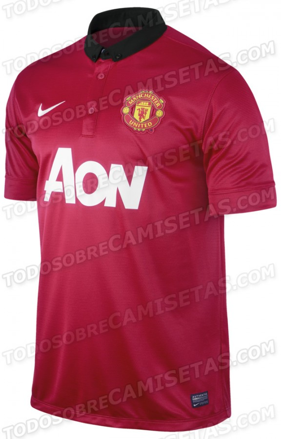 manchester united home shirt front 576x900 Manchester United Home Shirt for 2013 14 Season: New Leaked [PHOTOS]