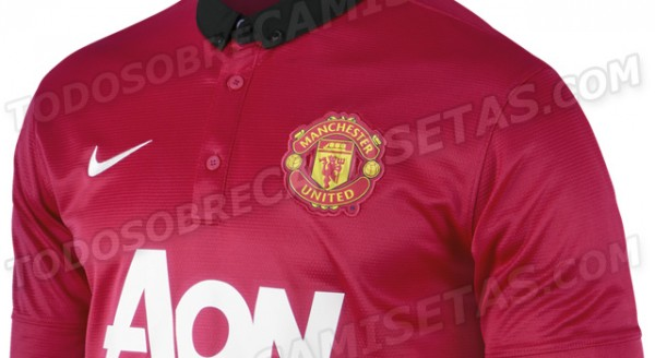 manchester united home shirt top 600x328 Manchester United Home Shirt for 2013 14 Season: New Leaked [PHOTOS]