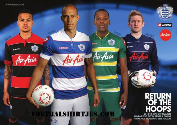 qpr kits 13 14 600x425 Queens Park Rangers Unveil New Kits For Next Season [PHOTO]