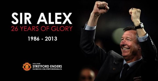 sir alex ferguson2 600x307 A Tribute to Sir Alex Ferguson, Manchester United Manager From 1986 2013 [VIDEO]
