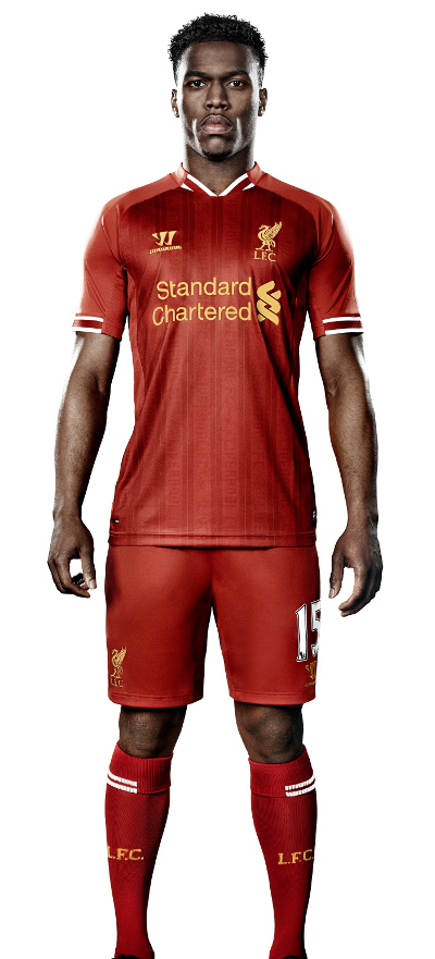 sturridge liverpool shirt Liverpool Unveil Home Shirt for 2013 14 Season: Official [PHOTOS]