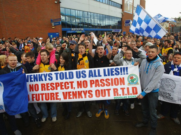 venkys protest blackburn 600x450 Venkys   The Fall of Blackburn Rovers: Full Length Documentary [VIDEO]