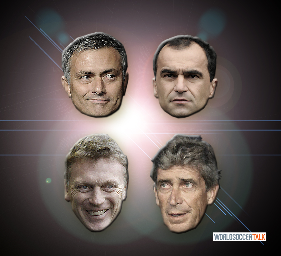 2013-2014 Premier League New Managers Mourinho Moyes Pellegrini