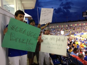 FIFA signs 300x225 Fort Lauderdale Strikers 0 4 Cruzeiro: Friendly Overshadowed by Brazilian Protesters and Anti FIFA Message