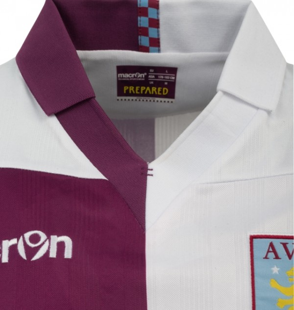 aston villa away shirt 600x632 Aston Villa Home and Away Shirts for 2013 14 Season Revealed [PHOTOS]