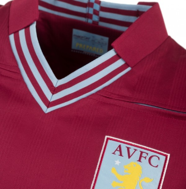 aston villa home shirt 600x609 Aston Villa Home and Away Shirts for 2013 14 Season Revealed [PHOTOS]