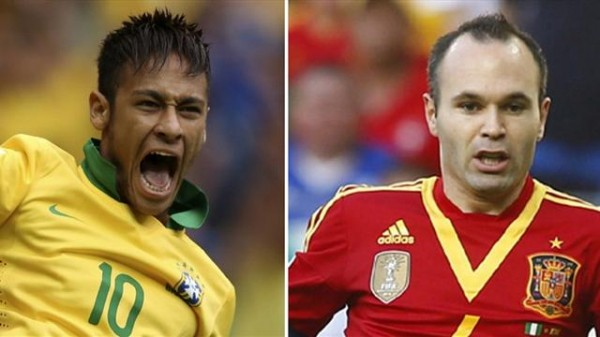 brazil spain 600x337 Brazil vs Spain, 2013 Confederations Cup Final Preview
