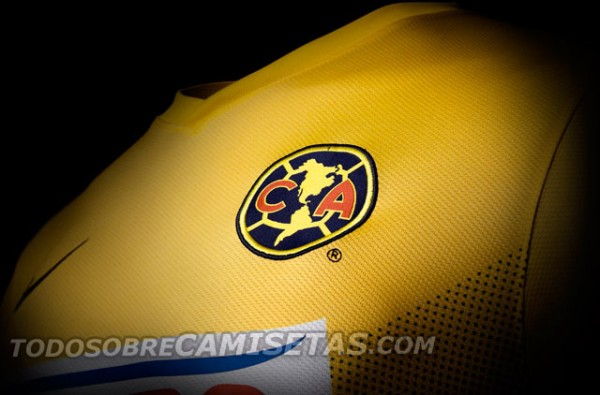 club america home shirt crest1 600x395 Club America Home Shirt for 2013 14 [PHOTOS]