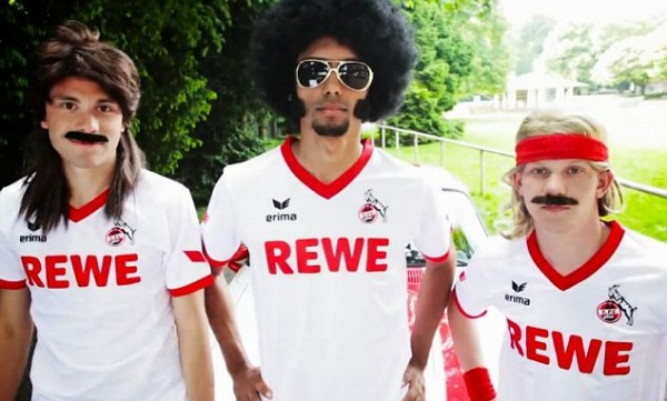cologne home shirts closeup 600x361 FC Cologne Use Afro, Mullets And Muscle Car to Promote Their New Home Shirt [VIDEO]