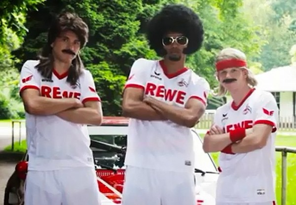 cologne home shirts front 600x416 FC Cologne Use Afro, Mullets And Muscle Car to Promote Their New Home Shirt [VIDEO]