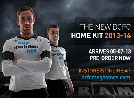 derby county home shirt Derby County Home Shirt for 2013 14 Season Revealed [PHOTOS]