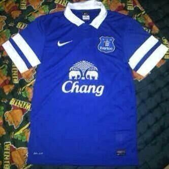 everton home shirt closeup Everton Home Shirt For 2013 14 Season: Leaked [PHOTOS]