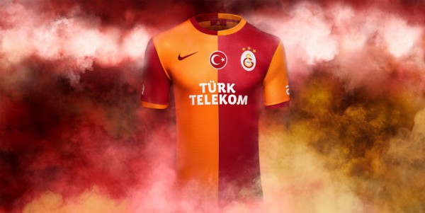 galatasaray home shirt 600x301 Top 10 Best Soccer Shirts of the 2013 14 Season